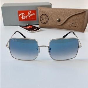 Rayban Sunglasses RB1971 91493F Silver/CLEAR BLUE